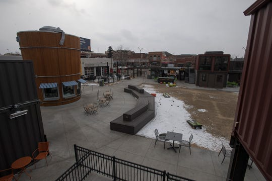 The courtyard is seen on Tuesday, Feb. 19, 2019, at The Exchange in Fort Collins, Colo.