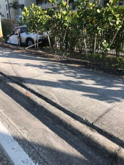 a two-vehicle crash along Bonita Beach Road also caused the death of a man riding his bicycle along a sidewalk when one of the vehicles veered off the roadway and hit him Monday afternoon.