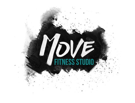 The logo for MOVE Fitness Studio. The studio recently opened at 128 N. Broadway.