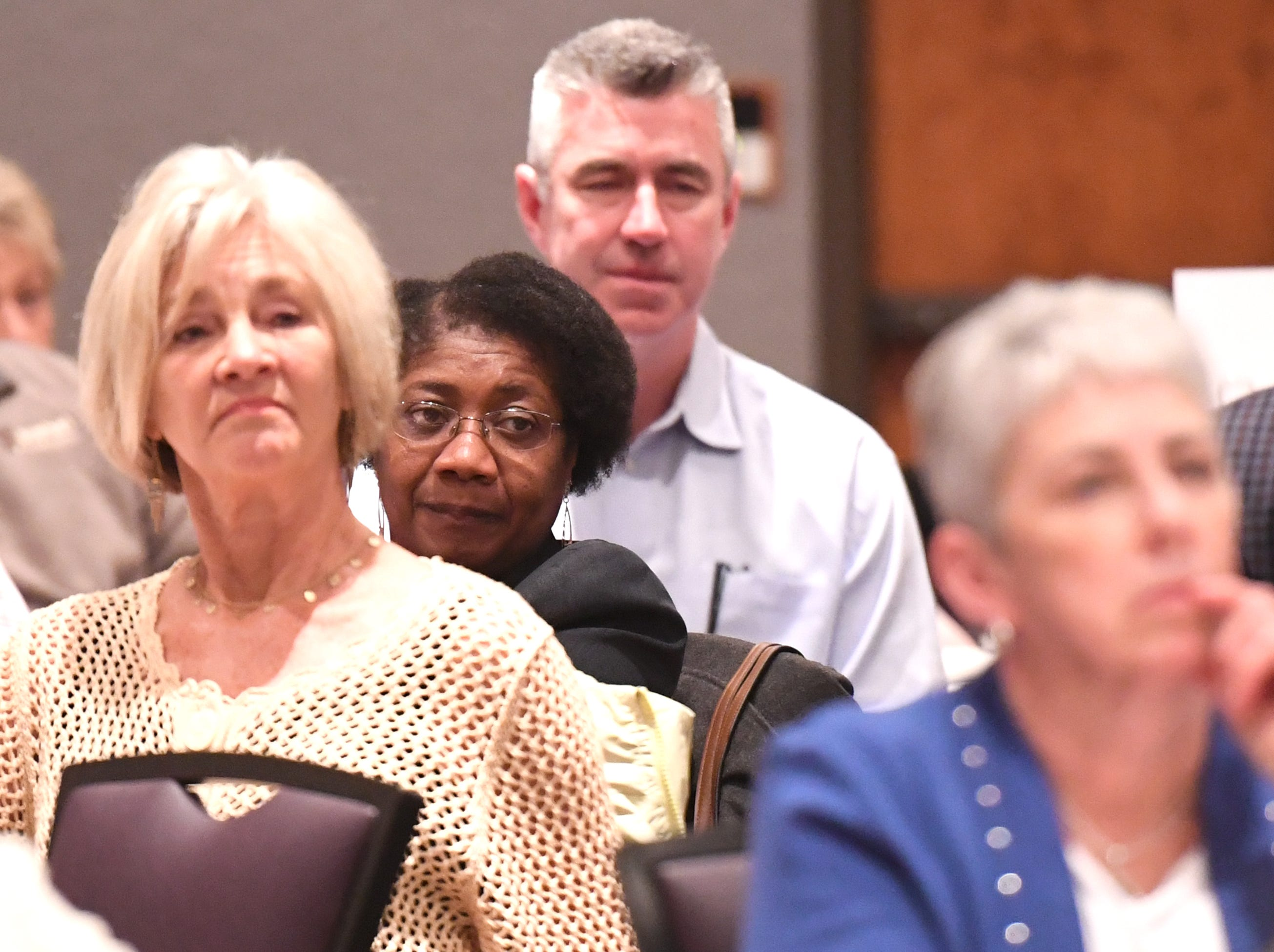 Alesia Smith, a city council member for the City of Clemson, attends the State of Clemson event held at the Madren Center Tuesday, Feb. 19, 2019.
