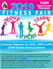 Guam Head Start Program's annual fitness fair is slated for Saturday, Feb. 23, 2019.