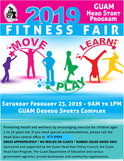 Guam Head Start Program's annual fitness fair is slated for Saturday, Feb. 23, 2019.