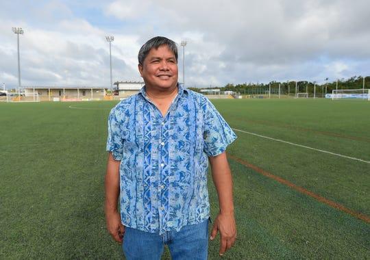 Guam Football Association President Tino San Gil at the GFA National Training Center in Dededo on Feb. 19, 2019.