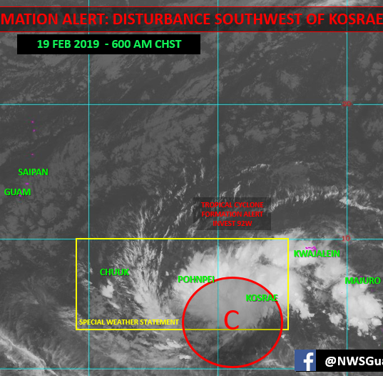 Storm expected to become organized, pass near Marianas this weekend