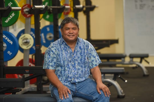 Guam Football Association President Tino San Gil at the new GFA Fitness and Sports Recovery Center on Feb. 19, 2019.