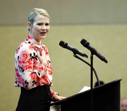 Elizabeth Smart, one of America's most well-known child abduction survivors and a prominent advocate for child safety, was the keynote speaker at Pine Grove Behavioral Health and Addiction Service's 35th anniversary program at the University of Southern Mississippi.