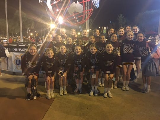 North Middle Schools cheerleaders competed in Nationals in Orlando, Florida.
