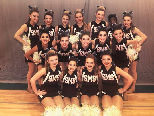 South Middle Schools cheerleaders recently took part in state competition.