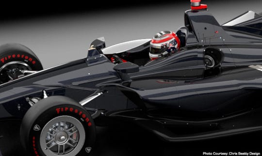 IndyCar's advanced frontal protection device is 3 inches tall and 3/4-inch wide and is on the chassis directly in front of the driver. It is designed to deflect debris headed toward the driver