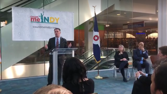 Indianapolis Mayor Joe Hogsett launches the city's campaign for the 2020 census.
