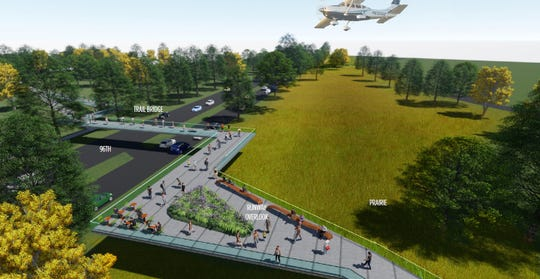 An observation deck is planned near 96th Street given the proximity to the airport.