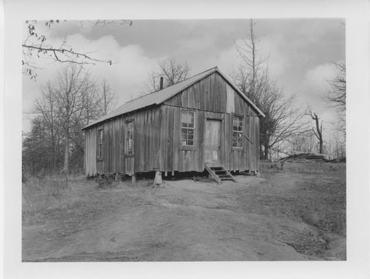 Conditions for black students in Tallahatchie County were especially stark. Here is the outside of the decrepit Massey Grove School in 1955.