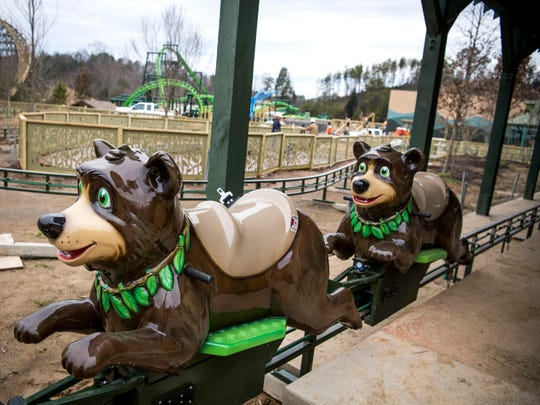 The Black Bear Trail ride in Dollywood's new Wildwood Grove area of the park on Tuesday, February 19, 2019.