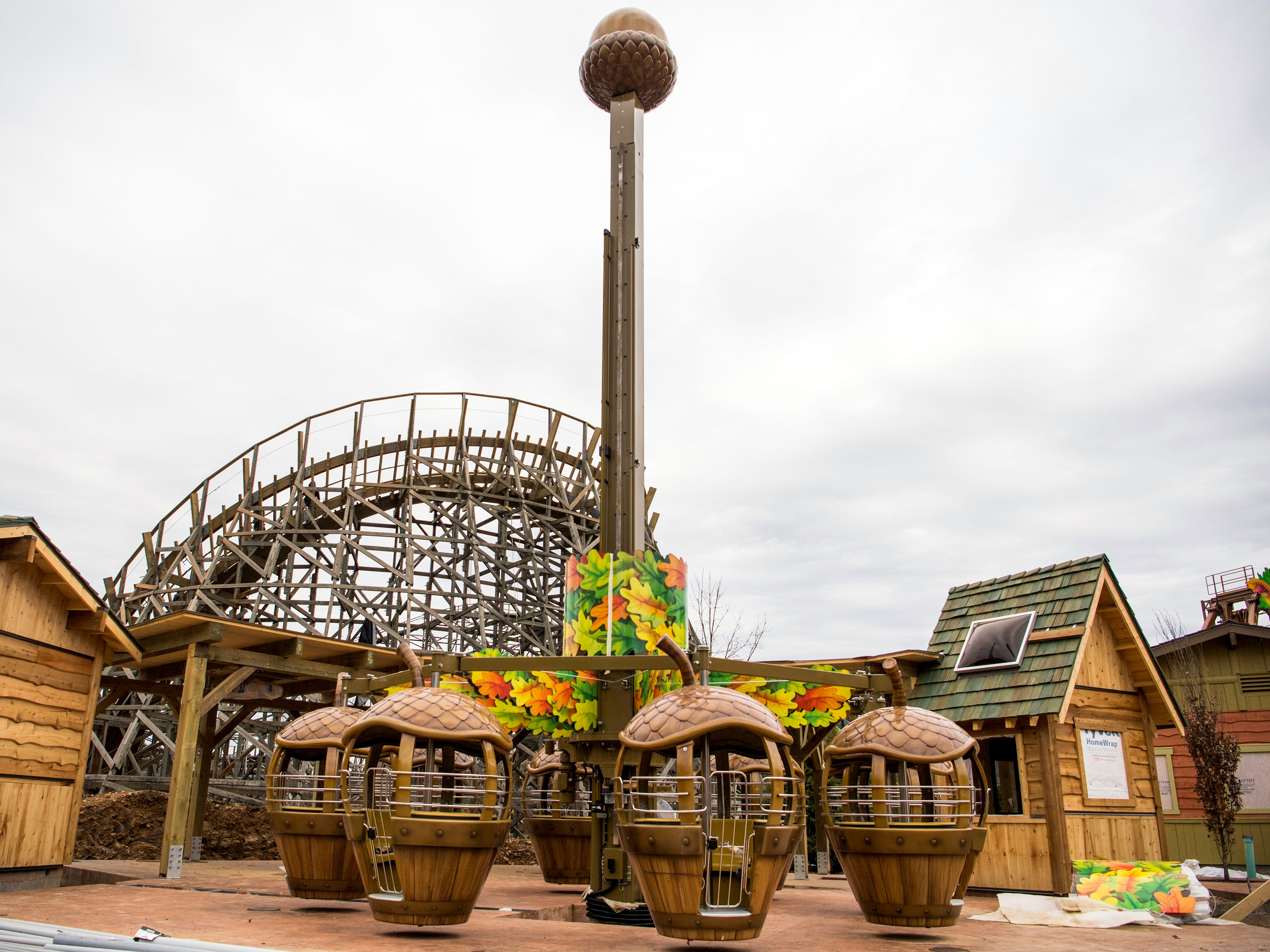 The Treetop Tower ride in Dollywood's new Wildwood Grove area of the park on Tuesday, February 19, 2019.