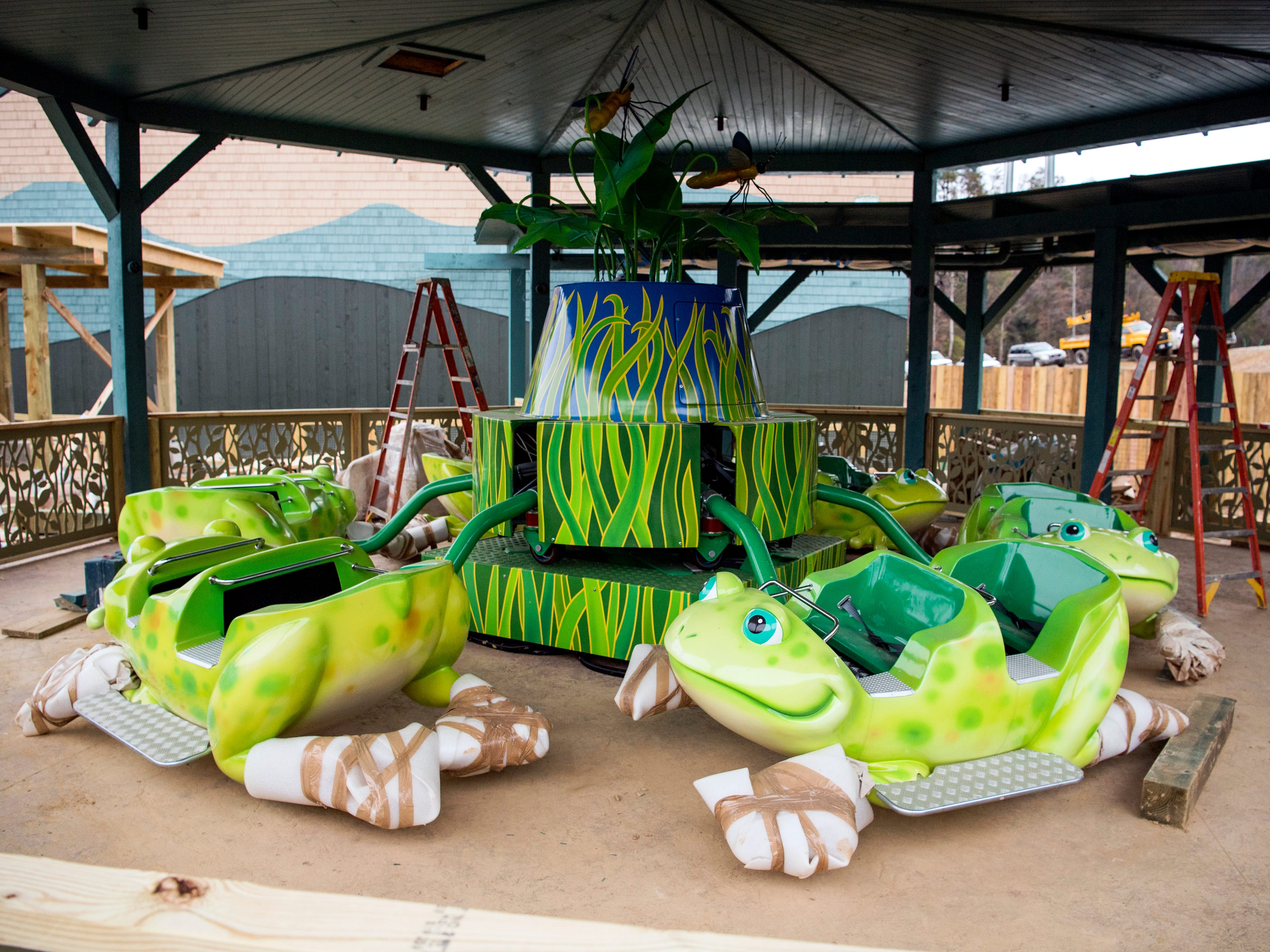 The Frogs & Fireflies ride in Dollywood's new Wildwood Grove area of the park on Tuesday, February 19, 2019.