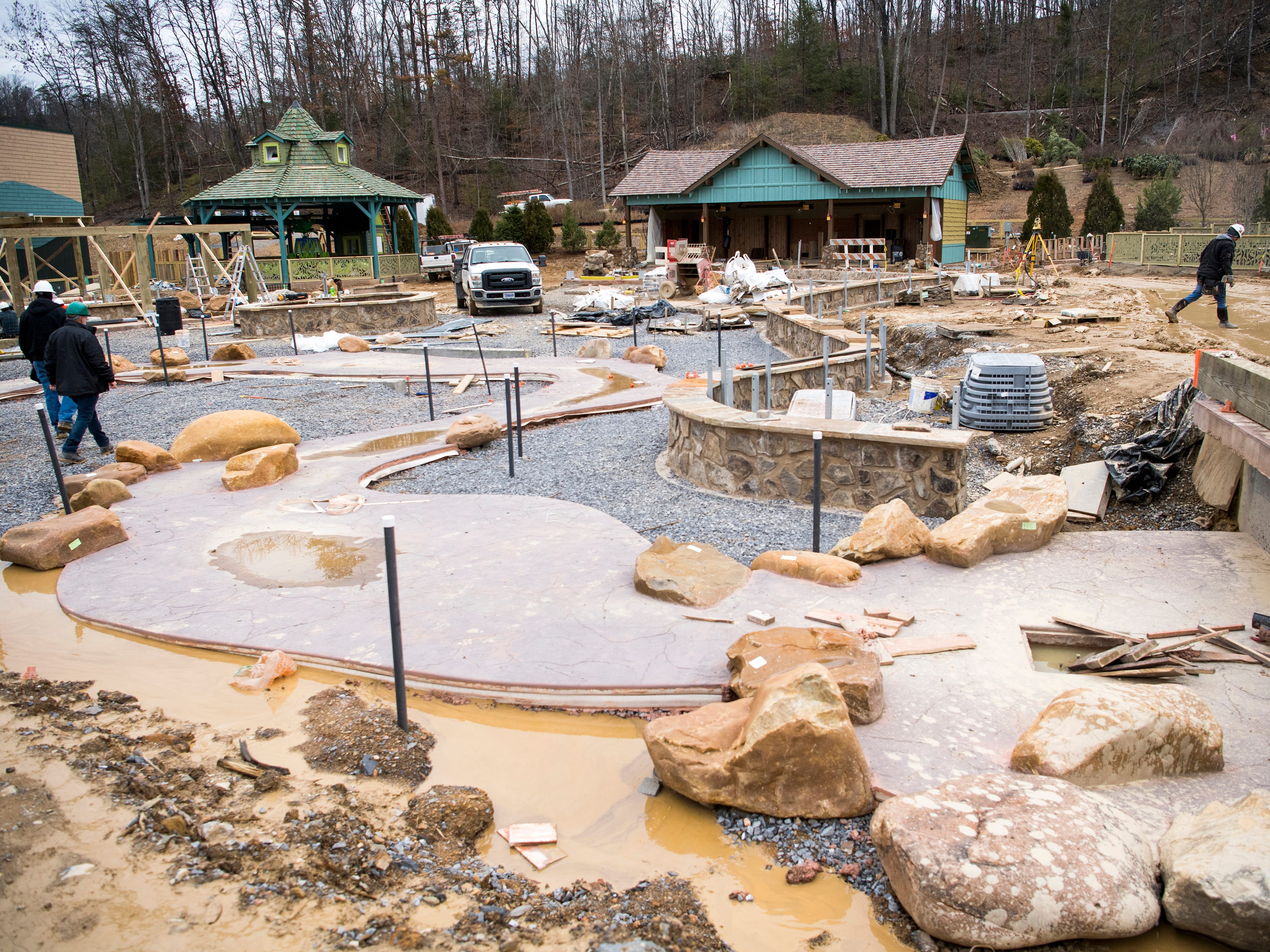 The Wildwood Creek area in Dollywood's new Wildwood Grove area of the park on Tuesday, February 19, 2019.