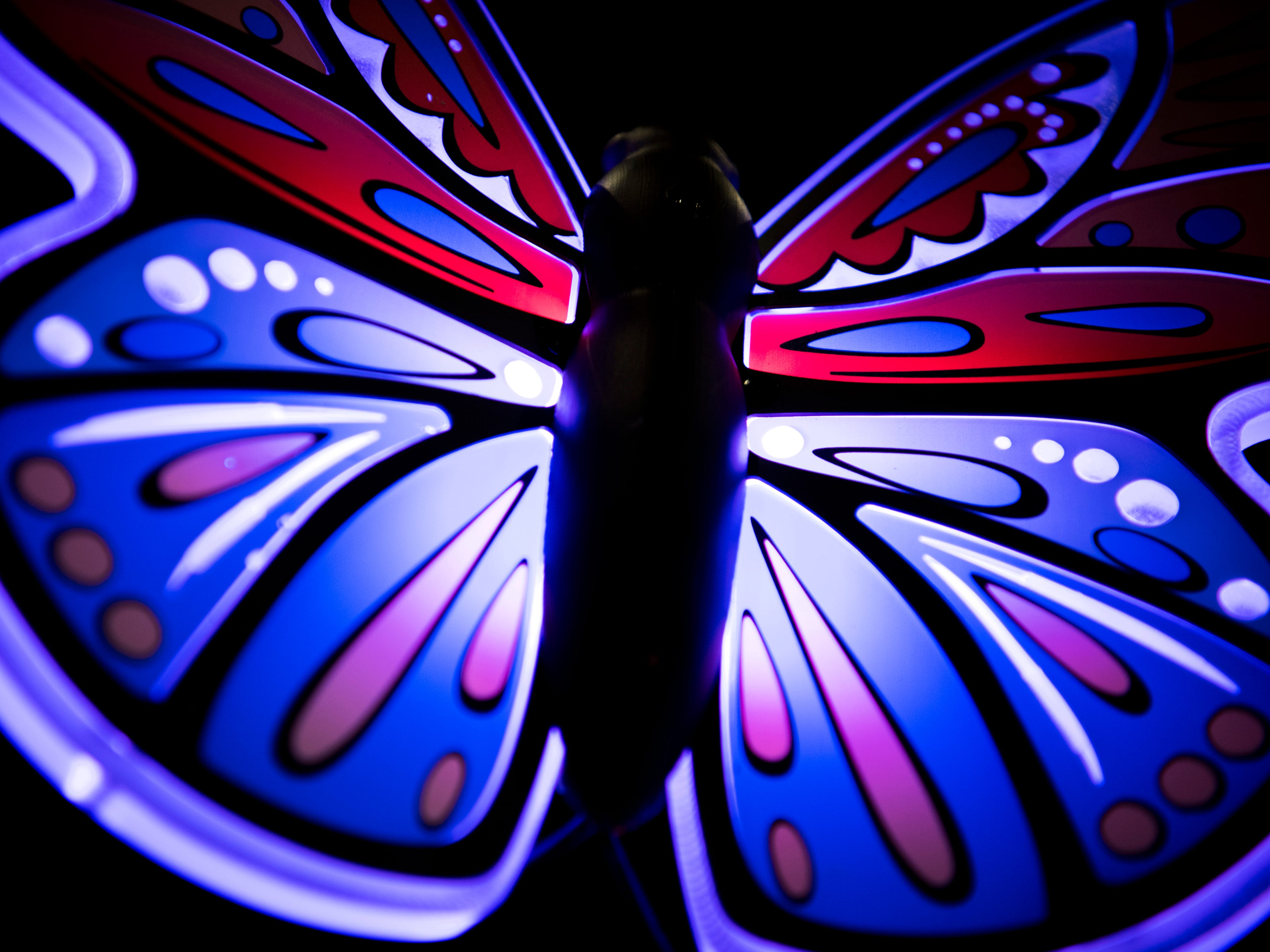 The Wildwood Tree will feature nearly 650 of these lighted butterflies in Dollywood's new Wildwood Grove area of the park on Tuesday, February 19, 2019.