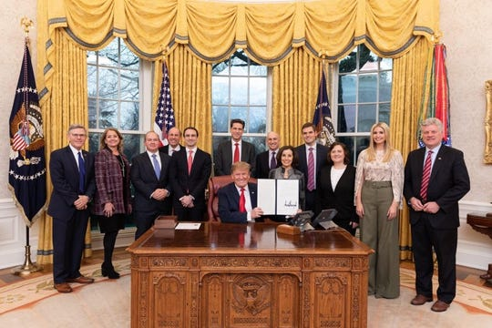 "The signing ceremony of the Executive Order on ""Maintaining American Leadership in AI"" on Monday, Feb. 11, 2019. Lynne Parker, a University of Tennessee professor, has been named assistant director for artificial  intelligence."