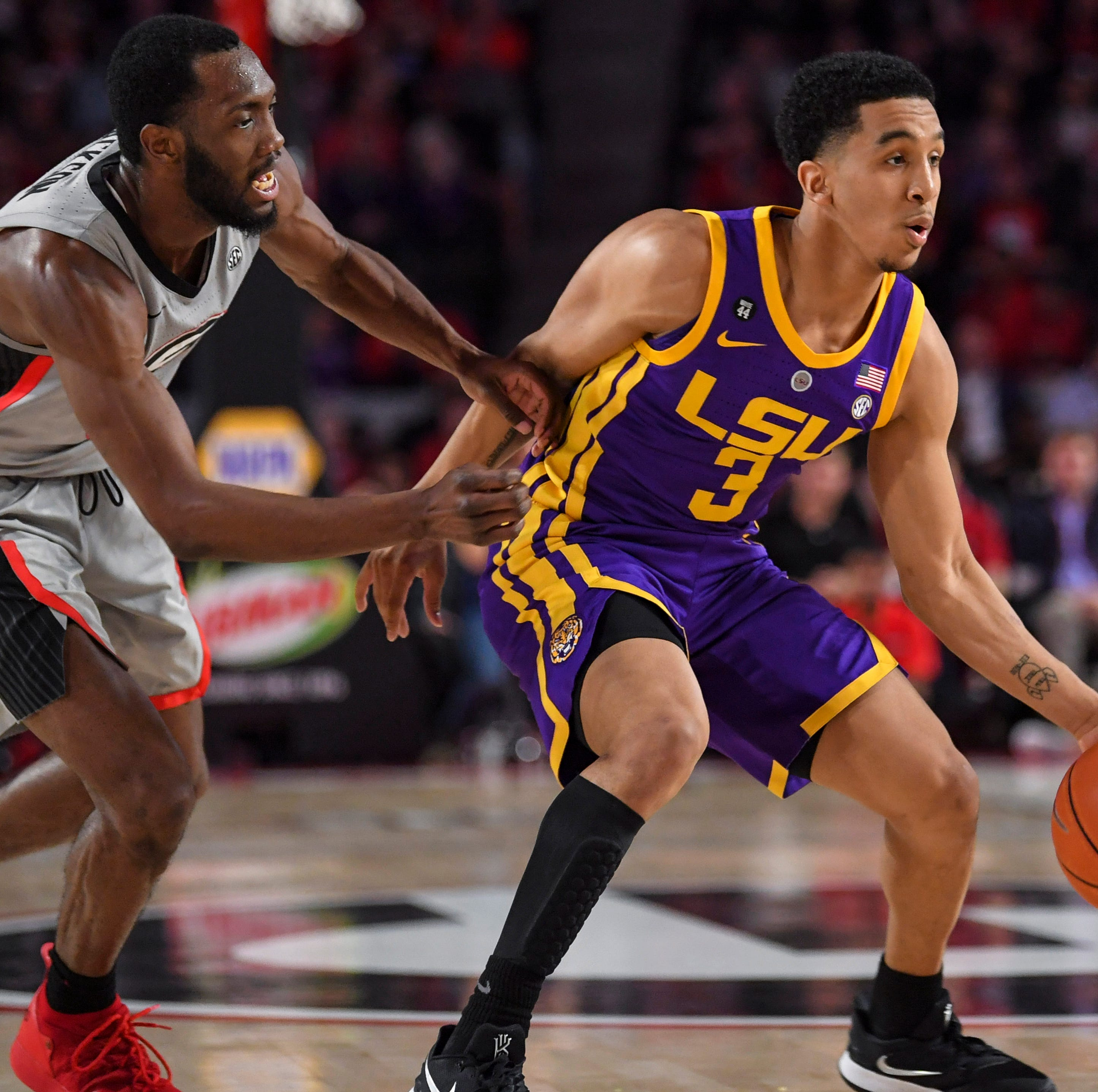 LSU hanging within 64-60 of No. 5 Tennessee despite not having star guard Tremont Waters