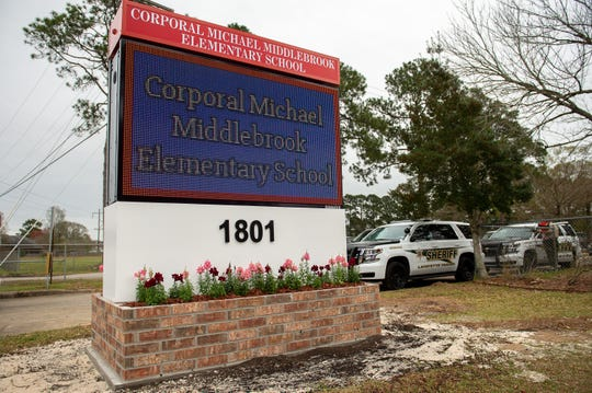 Plantation Elementary holds ceremony to officially rename the school Cpl. Michael Middlebrook Elementary, In honor of slain police officer Michael Middlebrook. Feb. 19, 2019.