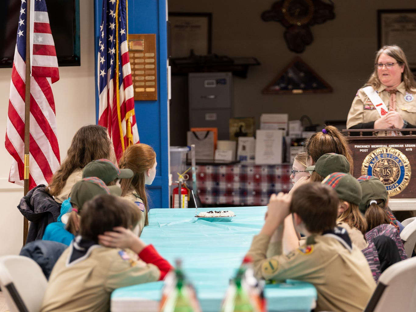 Heather Hudson, scout master for Troop 310, talks about her experience with scouting on Monday Feb. 18, 2019.