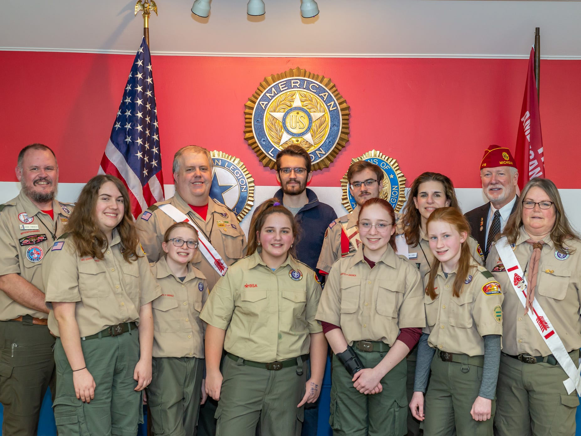 The newly created Troop 310, enjoyed their kickoff meeting Monday Feb. 18, 2019. They are the first girls Scouts BSA troop in Livingston County.