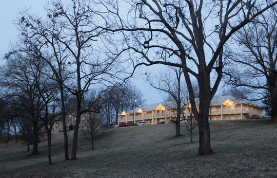 An apartment building on the campus of the Presbyterian Seminary sits on land that is being offered for sale. Feb. 18, 2019.