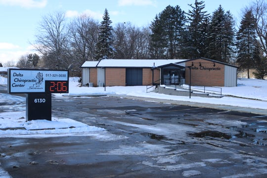 Delta Chiropractic Center's new location at 6130 W. Saginaw Highway. Its previous building, at West Saginaw and Creyts Road, was destroyed by fire in July of last year.