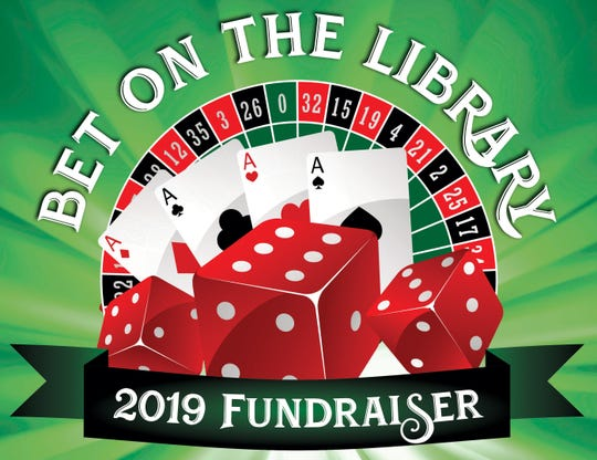 Manitowoc Public Library's 'Bet on the Library' fundraiser logo.