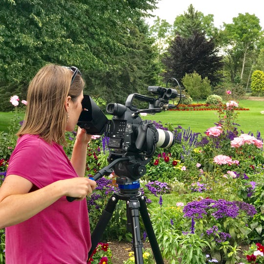 Discover Wisconsin producer Jessica Murphy shoots at West of the Lake Gardens.