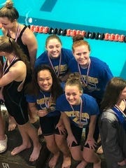 Ontario's 200 medley relay team of Ava Ruhe, Amy Evans, Jenny Crum and Myla Creed has qualified for the state meet in Canton.