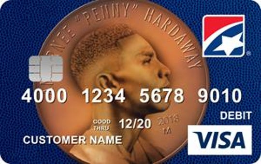 First Tennessee Bank unveiled a debit card emblazoned with Penny Hardaway's head on a penny in February 2019.