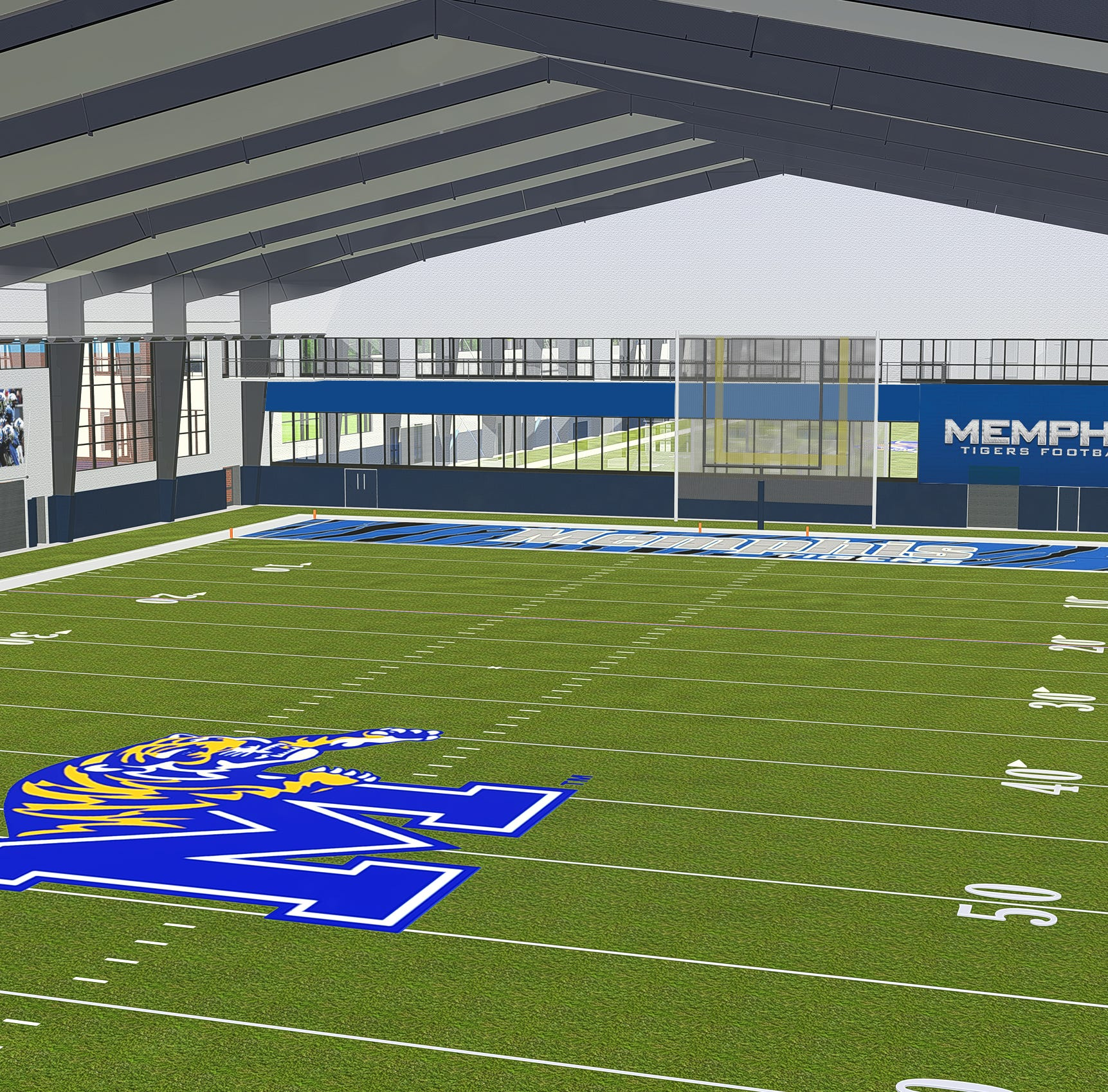 University of Memphis files $8.8 million permit for indoor football practice facility