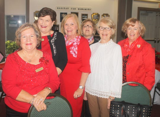 Eileen Carlsen, Pam Molander, Audrey Calzone, Pat Dugas, Marilyn Kostelnik and Polly Lally have happy hearts.