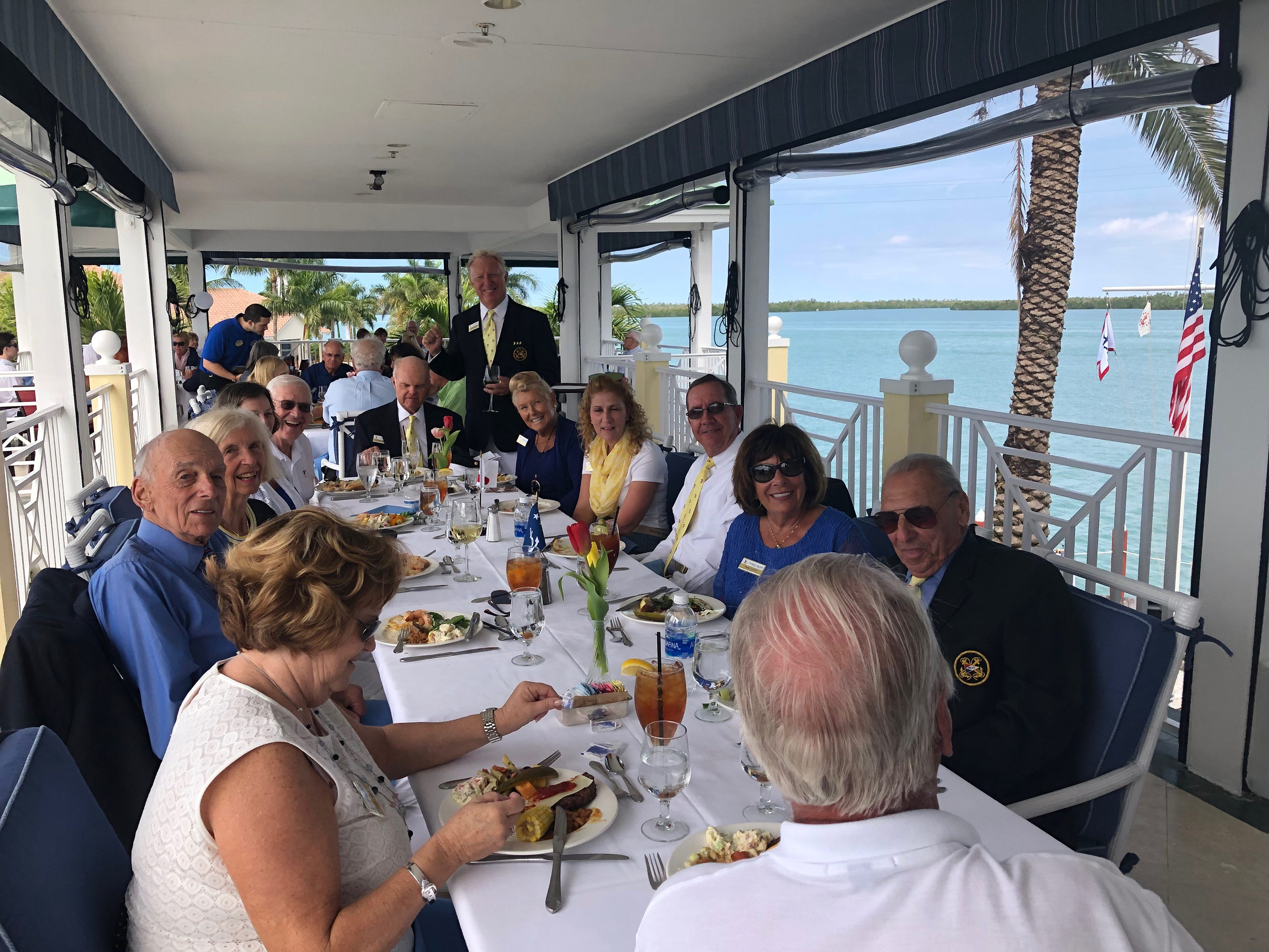 Captains, first mates and crew all enjoyed the luncheon and music following the blessing of the fleet ceremony.