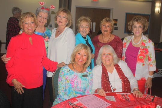 Feeling blessed are, seated: Sue Stone and Jo Baille; standing: Sue Winje, Barb Markel, Linda Turner, Diane Rouse, Pat Warrener and Marsha Crawford.