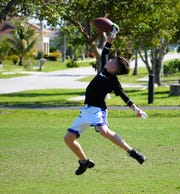 Colin Raymond with a one-handed catch.