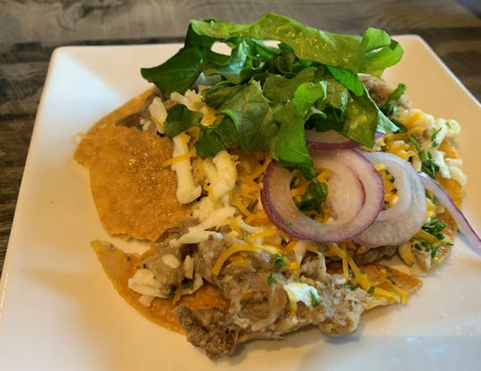 The mojo pork tostadas 2Shea's Salty Dog, Marco Island.
