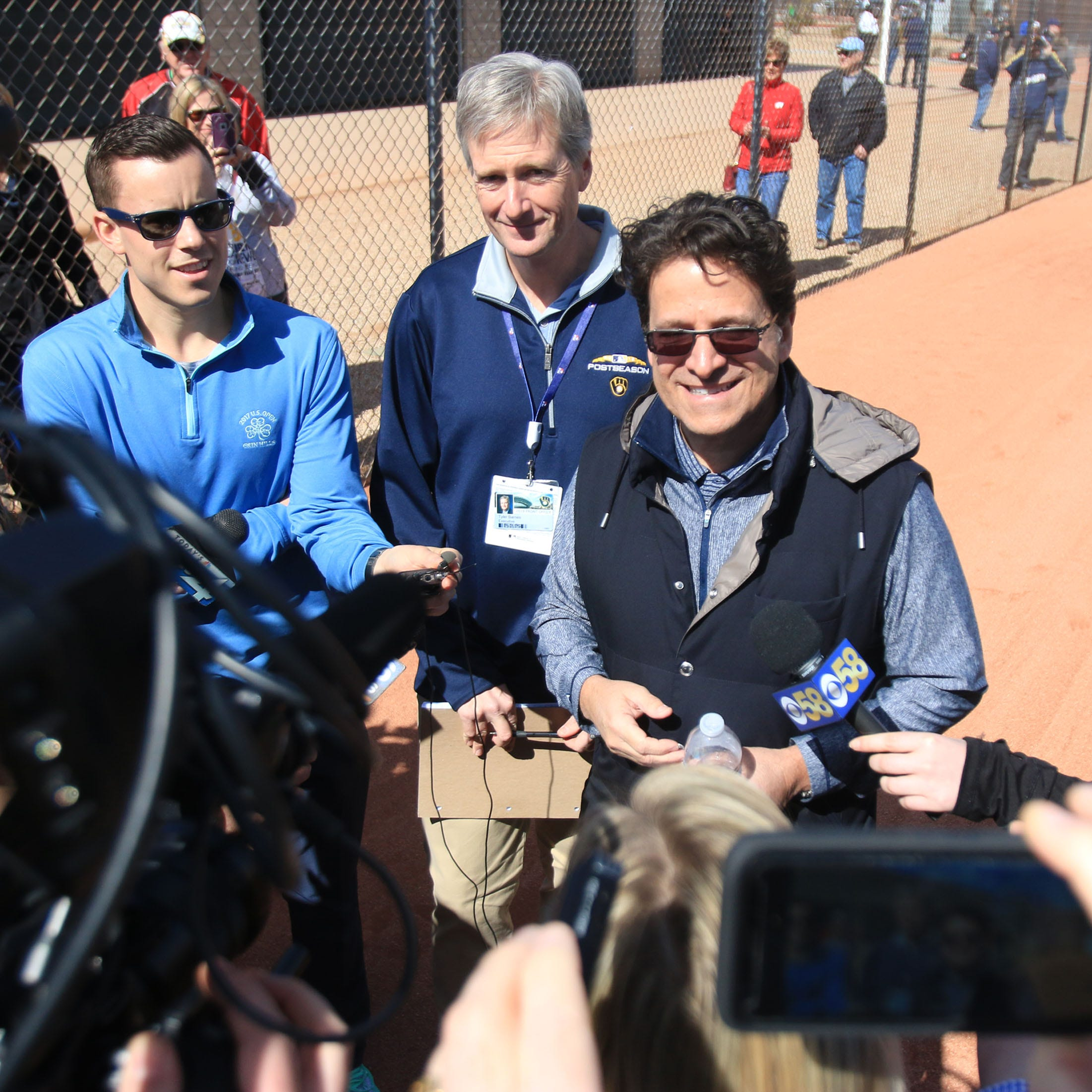Brewers owner Mark Attanasio on the team's chances: 'All the chips are all in now.'