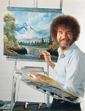 Bob Ross at his easel