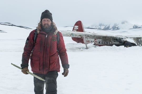 "Mads Mikkelsen battles the elements in ""Arctic."""