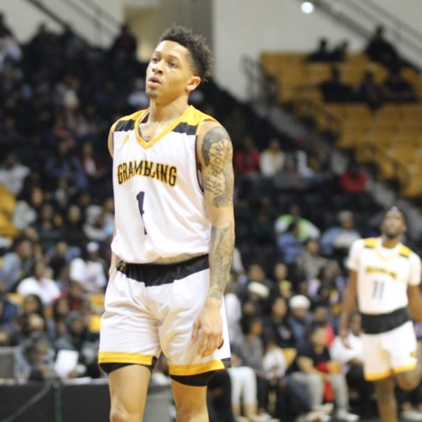 Grambling State junior point guard Ivy Smith (1) looks on during Monday's SWAC game versus Prairie View A&M at the Fredrick Hobdy Arena.
