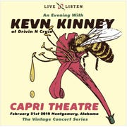 Kevn Kinney of Drivin N Cryin is coming to Montgomery's Capri Theatre on Thursday.