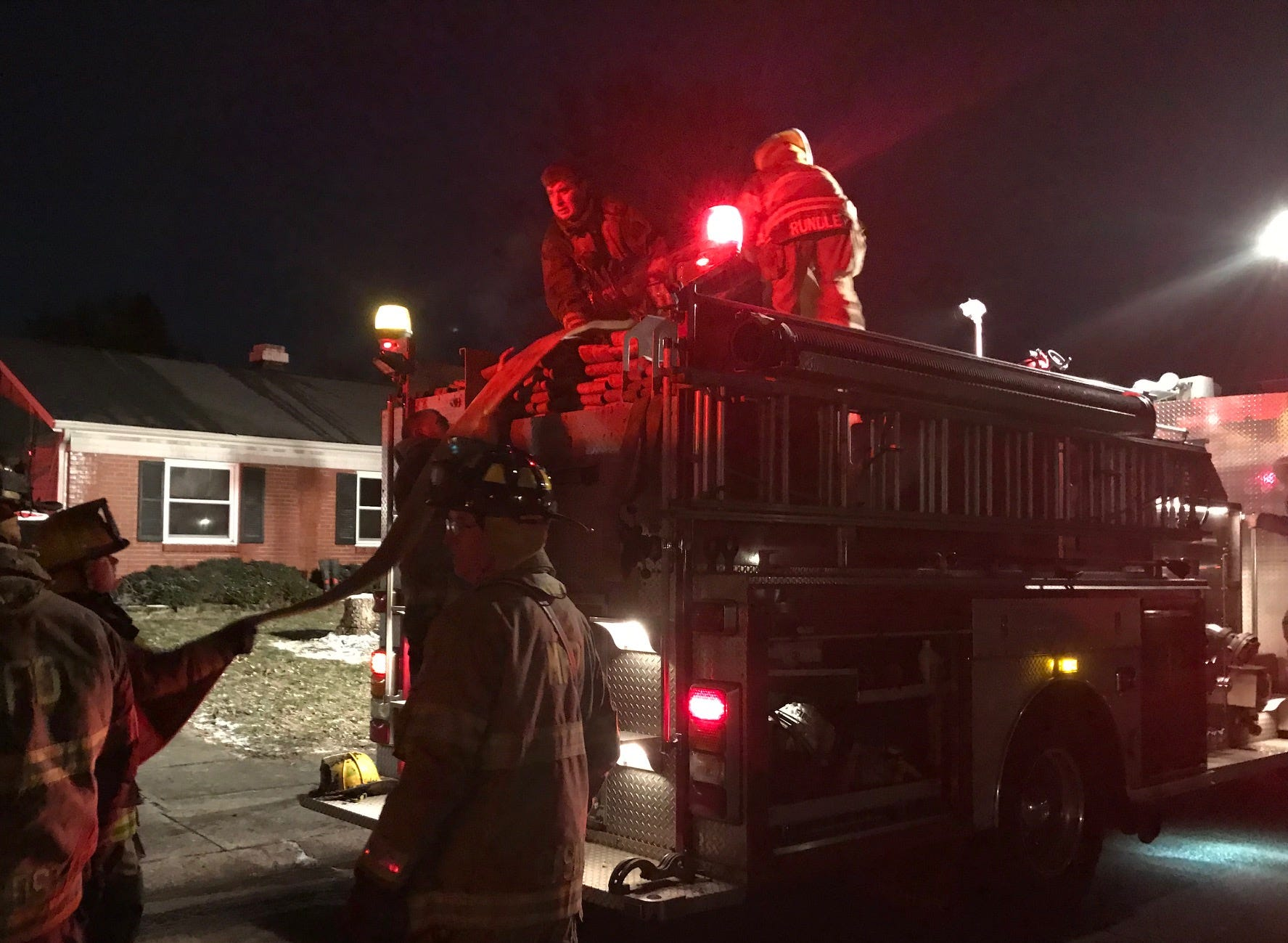 Muncie firefighters on Monday night battled a blaze that damaged a house in the 2000 block of South Daly Avenue.