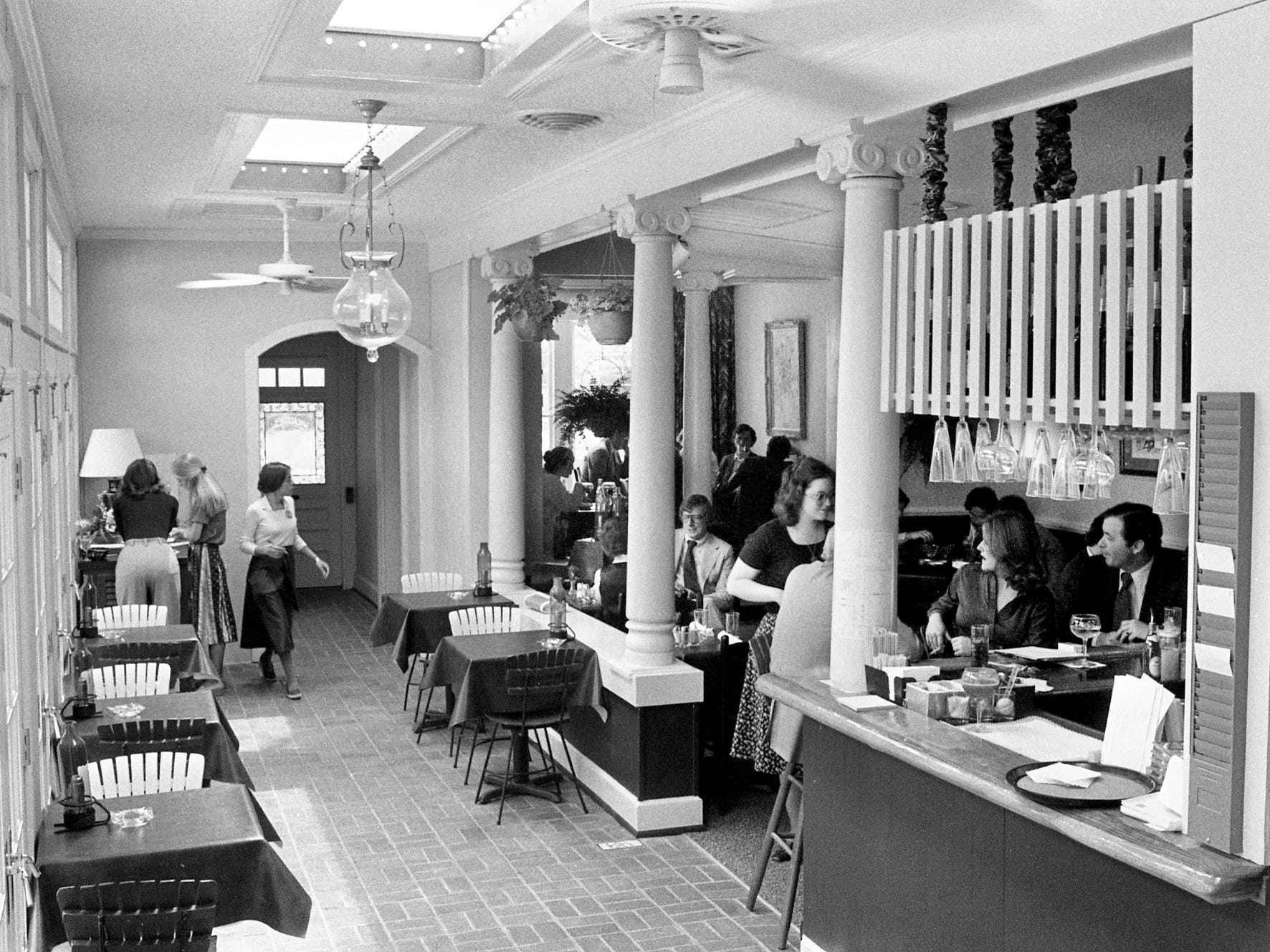 The newly-opened Maude's Courtyard at 1911 Broadway is opened for lunch, like here May 17, 1978, dinner and Sunday brunch. The restaurant, owned by Morton Howell and Houston Thomas, is in the site of the former Olive Tree restaurant.