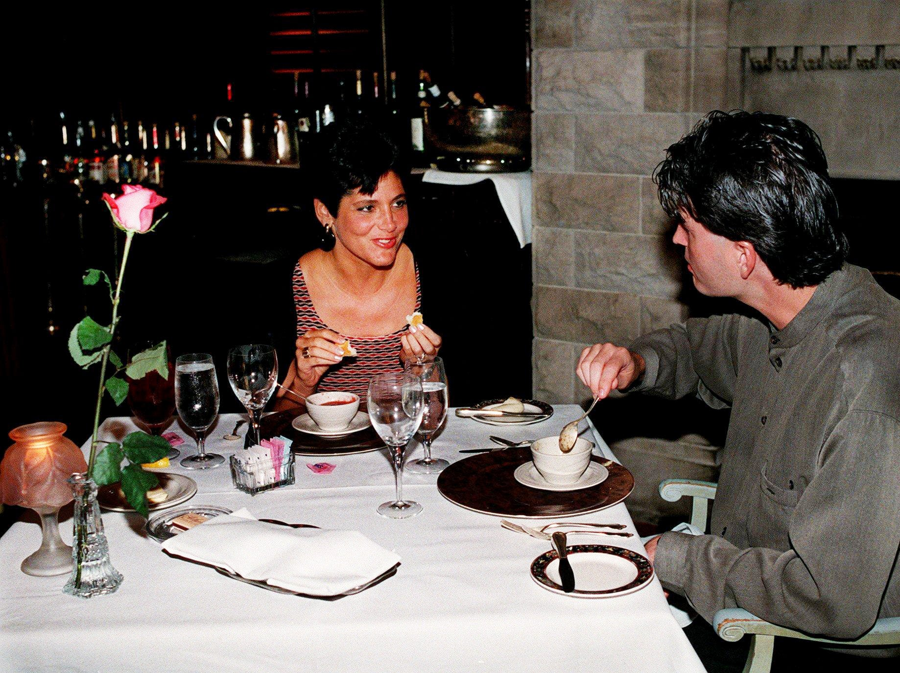 Ronnie and Mindy Thomas of Nashville enjoy their dinner at Arthur's at Union Station Hotel June 27, 1998.