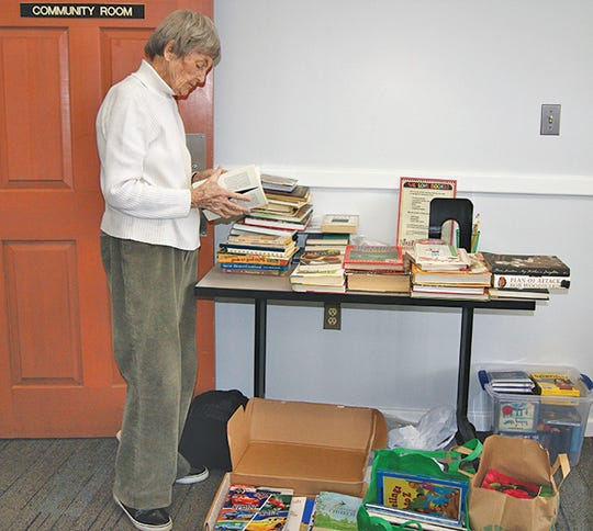 The Friends of the Fairview Public Library are busy sorting through books in preparation for their Book Sale Feb. 21-23 at the Library.