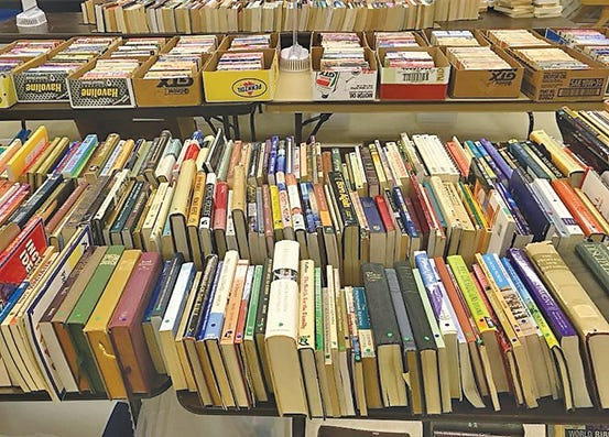 1000s of books will be available at The Friends of the Fairview Public Library Book Sale, Thur.-Sat., Feb. 21-23, 2019.