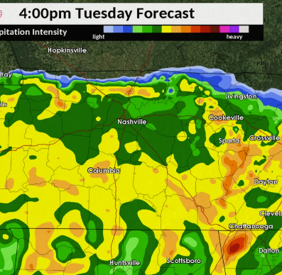 Heavy rain expected to roll into Middle Tennessee today