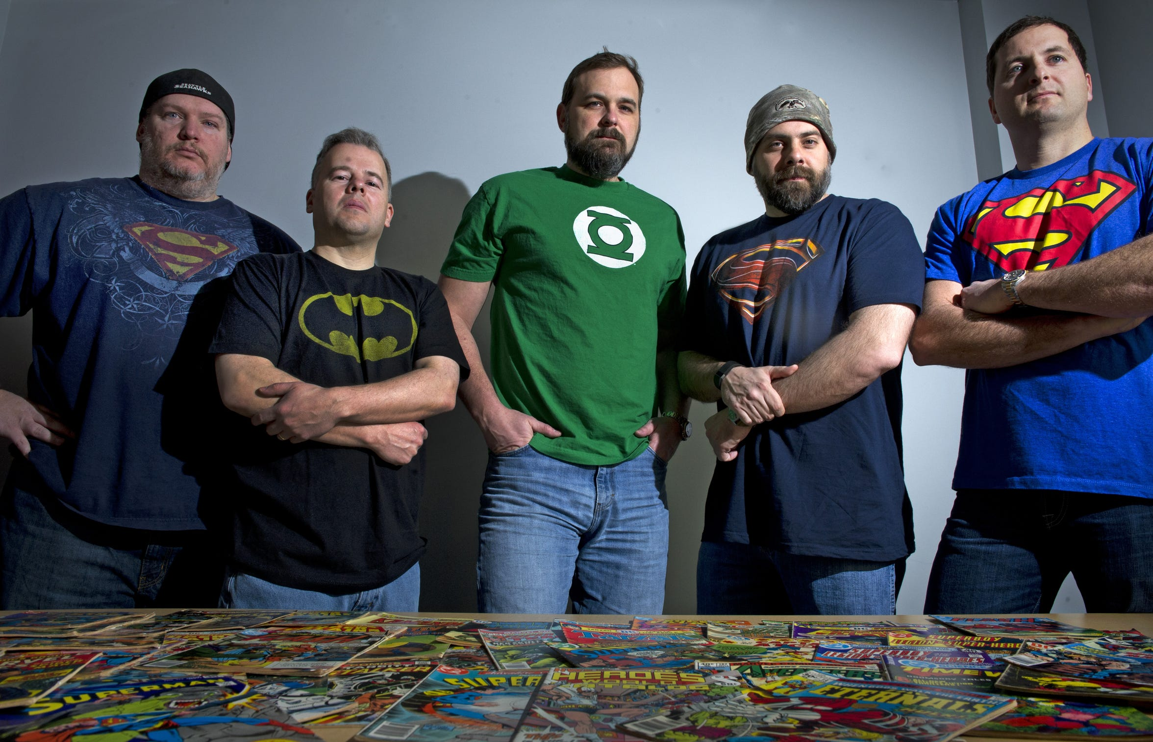 The Comicbook.com leaders, from left, are Noah Stanley, CPO and COO; Joe Blackmon, president; Shannon Terry, CEO; Cory Lovelace, CTO; and Andy Johnson, CFO.